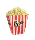 Full bucket of popcorn isolated Stock Photography