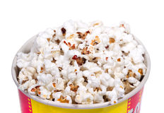 Full bucket of popcorn. Stock Photo