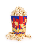 Full bucket of popcorn. Royalty Free Stock Images