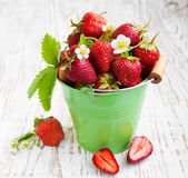 Full bucket of strawberry Royalty Free Stock Images