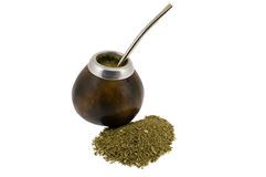 Full calabash and yerba mate Stock Images