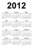 Full Calendar_2012. Full calendar for the new 2012 Royalty Free Stock Photo