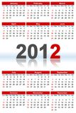 Full Calendar_2012 Royalty Free Stock Photography