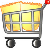 Full cart icon or symbol Stock Photography