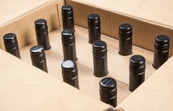 Case of 12 Bottles of Wine  2 Stock Image