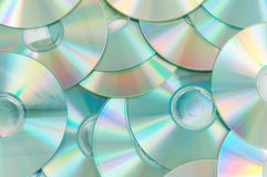 Full with cd's. Compact discs as background stock image