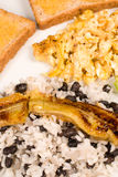 Full Central American breakfast. Classic Central American breakfast served in full sice royalty free stock photography