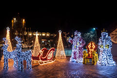Full Christmas decorations Royalty Free Stock Photography