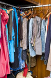 Full closet. Photo of a full closet Stock Photography