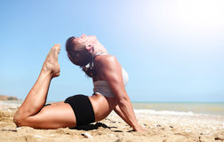 Full cobra yoga pose Royalty Free Stock Image