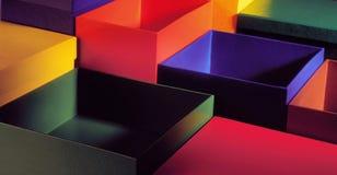 Full color box Stock Image