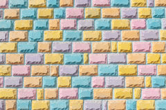 Full color brick wall Royalty Free Stock Photography