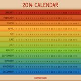 Full color 2014 calendar. Full color 2014 vector calendar vector illustration