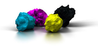 Full color cmyk Royalty Free Stock Photography