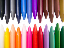 Full color crayon head teeth. Full color crayon head to head teeth arrangement Stock Images