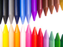Full color crayon head to head mouth full open. Arrangement Royalty Free Stock Photos