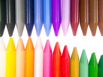 Full color crayon head to head mouth half open Stock Photo