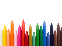 Full color crayon irregular tips Royalty Free Stock Photography