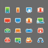 Full color device symbol icon set Royalty Free Stock Photos