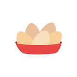 Full color dish with eggs Stock Images