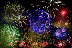 Full Color Fireworks Royalty Free Stock Image