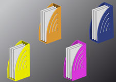 Full color folders Royalty Free Stock Images