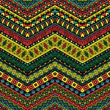 Full color pattern with ethnic ornaments. Colorful pattern with ethnic ornaments Stock Images
