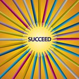 Full Color Pencil accept point SUCCEED Stock Photography