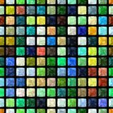 Full color regular mosaic seamless pattern texture Stock Images