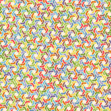 Full color seamless geometric pattern with hexagon Royalty Free Stock Image