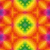 Full color spectrum kaleidoscope mosaic dark blue kaleidoscope mosaic seamless pattern texture background Royalty Free Stock Images