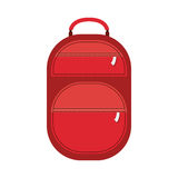 Full color suitcase with pockets with zipper Stock Image