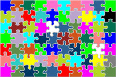 Full colored puzzle. A 7 x 10 pieces detailed puzzle Stock Images