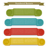 Full colors numbered banners. Royalty Free Stock Photography