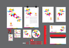 Full colour corporate identity template  for your business Royalty Free Stock Photography