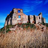 Full of color ruins of the castle stock photography