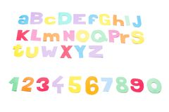 Full colourfull alphabet - paper work. Royalty Free Stock Images