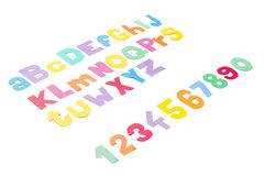 Full colourfull alphabet - paper work. Stock Photography