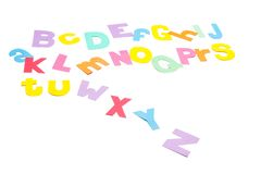 Full colourfull alphabet - paper work. Royalty Free Stock Photos