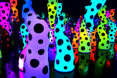 Full of colours. Dots and vibrant colors in a psychedelic sculpture Stock Image