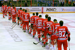 Full composition of the hockey club  Stock Photography