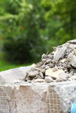 Full construction waste debris rubble bags Stock Photography