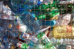Free Full Container Of Plastic Household Waste For Recycling Stock Photography - 189169862