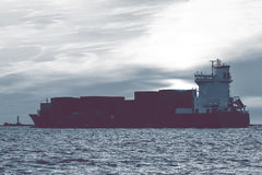Full container ship Royalty Free Stock Photo