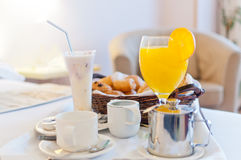 Full continental breakfast Royalty Free Stock Photos