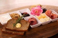 Full continental breakfast Stock Photos