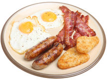 Full Cooked English Breakfast Royalty Free Stock Image