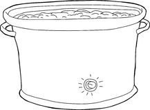 Full Crock Pot Outline Stock Photos
