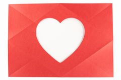 Full cross folded heart Royalty Free Stock Photography