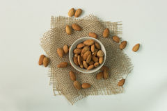 Full cup of almonds nut Royalty Free Stock Photo